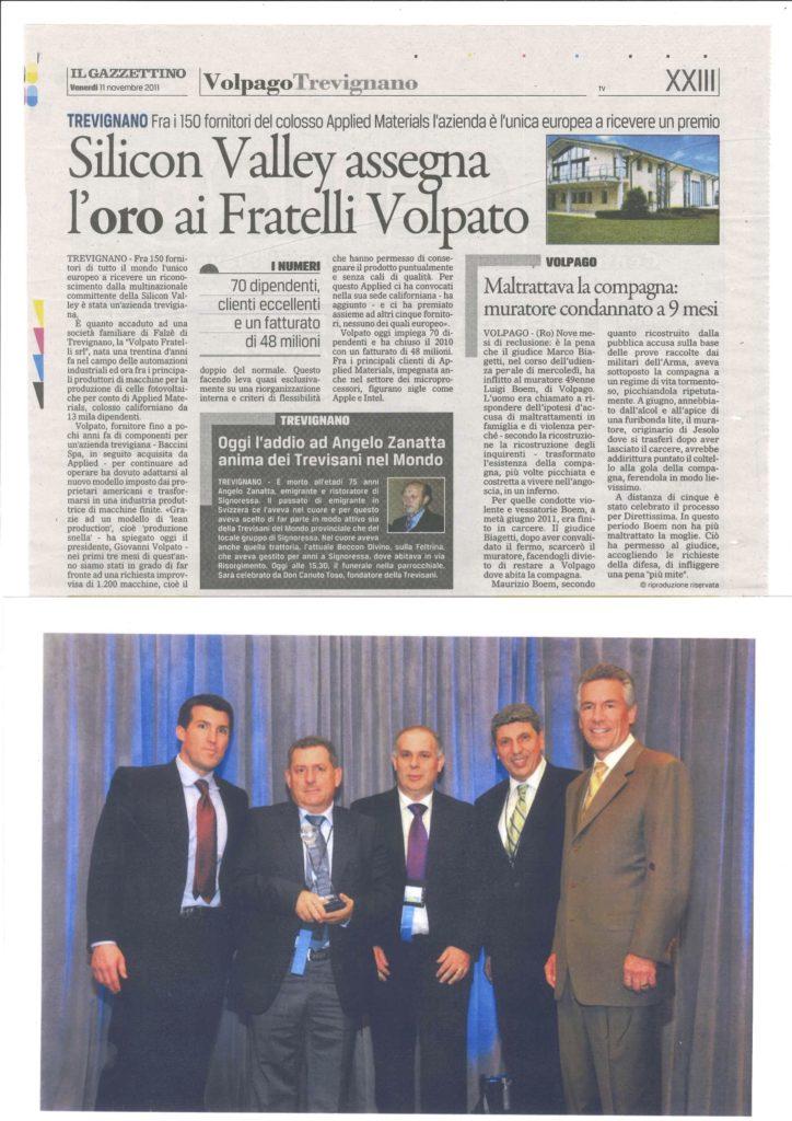 silicon valley assegna l'oro ai fratelli Volpato
